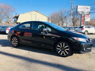 Used 2015 Honda Civic Sedan Cuir-Toit-Camera-1 Proprio-Jamais Accidentée for sale in Laval, QC
