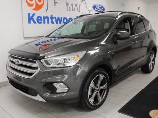 Used 2017 Ford Escape SE FWD ecoboost with NAV, heated power leather seats, power liftgate, keyless entry and a back up cam for sale in Edmonton, AB