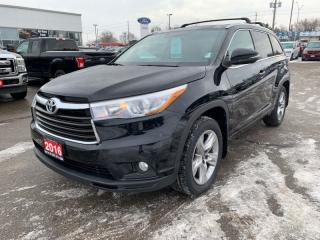 Used 2016 Toyota Highlander Limited  - Local - Trade-in for sale in Woodstock, ON