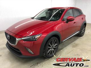 Used 2016 Mazda CX-3 GT AWD CUIR TOIT MAGS CAMÉRA SIÈGES CHAUFFANTS for sale in Trois-Rivières, QC
