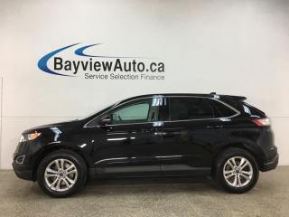 Used 2017 Ford Edge SEL - AWD! BLK HTD LTHR! PANOROOF! NAV! LOADED! for sale in Belleville, ON