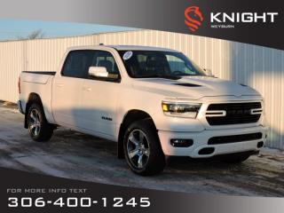 New 2020 RAM 1500 Sport Crew Cab 4x4 HEMI | Leather Heated/Cooled Seats | Sunroof | NAV | Remote Start | Back-up Cam for sale in Weyburn, SK