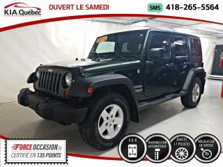 Used 2011 Jeep Wrangler UNLIMITED* SPORT* 4X4* AT* CECI EST UN 2012* for sale in Québec, QC