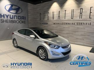 Used 2015 Hyundai Elantra SPORT+DÉMARREUR+TOIT+BANCS CHAUFF+MAGS for sale in Sherbrooke, QC