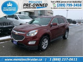 Used 2017 Chevrolet Equinox LT, Bluetooth, Cam, One Owner, Clean Carfax for sale in Whitby, ON