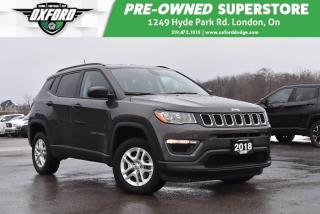 Used 2018 Jeep Compass Sport - One Owner, Low Kms, Well Equipped for sale in London, ON
