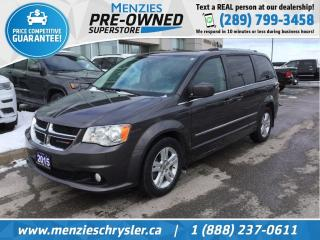 Used 2015 Dodge Grand Caravan Crew Plus, Navi, DVD, One Owner, Clean Carfax for sale in Whitby, ON