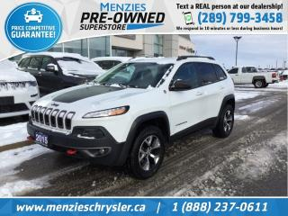 Used 2015 Jeep Cherokee Trailhawk 4x4, Navi, Leather, Clean Carfax for sale in Whitby, ON