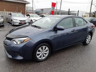 Used 2016 Toyota Corolla LE, AUTOMATIC, BLUETOOTH, HEATED SEATS, 53 KM for sale in Ottawa, ON