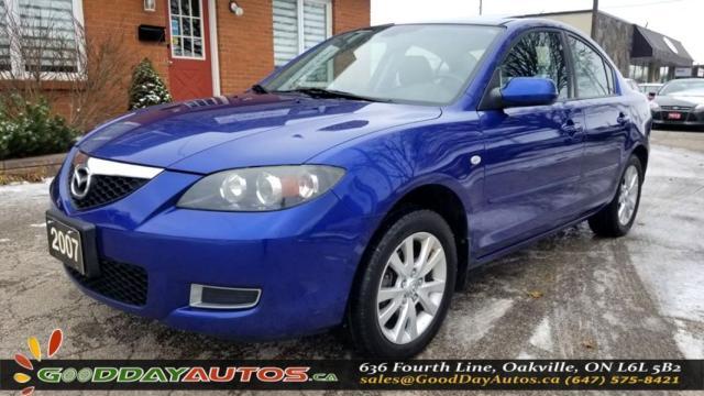 2007 Mazda MAZDA3 GX LOW KM NO ACCIDENT SUNROOF CERTIFIED