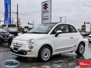 Used 2014 Fiat 500 Lounge ~Heated Leather ~Power Moonroof ~Bluetooth for sale in Barrie, ON
