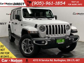 Used 2019 Jeep Wrangler Unlimited Sahara| 4X4| NAVI| HARD TOP| LOCAL TRADE| for sale in Burlington, ON