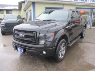 Used 2014 Ford F-150 LOADED FX4 EDITION 5 PASSENGER 5.0L - V8.. 4X4.. EXT-CAB.. SHORTY.. NAVIGATION.. LEATHER.. HEATED/AC SEATS.. BACK-UP CAMERA.. POWER SUNROOF.. for sale in Bradford, ON