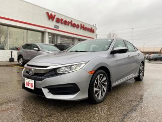 Used 2016 Honda Civic Accident Free, One Owner Civic EX! Has Certified Powertrain Warranty until 160,000KM or 02/11/2023! for sale in Waterloo, ON