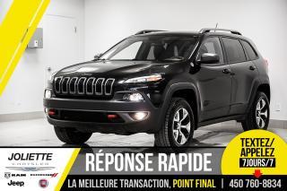 Used 2015 Jeep Cherokee Trailhawk, AWD, CAMÉRA DE RECUL, DÉMARREUR À DISTA for sale in Joliette, QC