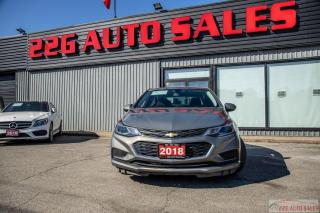Used 2018 Chevrolet Cruze LT ACCIDENT FREE BLUETOOTH BACKUP CAM HEATED SEATS for sale in Brampton, ON