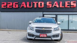 Used 2015 Chevrolet Cruze 1LT ACCIDENT FREE BACKUP CAM SUNROOF REMOTE STARTE for sale in Brampton, ON