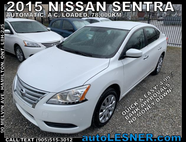 2015 Nissan Sentra -ZERO DOWN, $190 for 60 months FINANCE TO OWN!