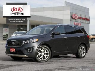 Used 2017 Kia Sorento SX V6, ONE OWNER, CARFAX CLEAN!! for sale in Kitchener, ON