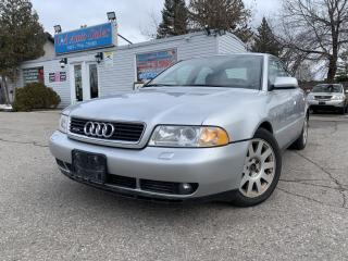 Used 2000 Audi A4 4dr Sdn 2.8L Quattro AWD |5-SPEED| LOW KM|SUNROOF| for sale in Brampton, ON