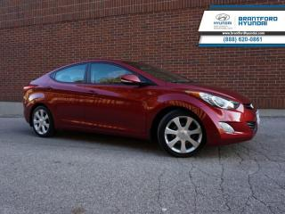 Used 2013 Hyundai Elantra Limited  - Leather Seats - $96 B/W for sale in Brantford, ON