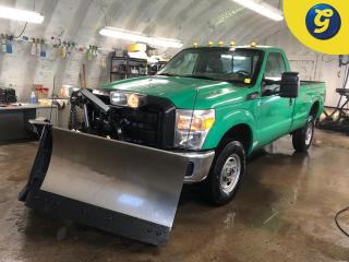 Used 2014 Ford F-250 Super Duty Turbo Diesel * 4X4 * Fisher multiple angle snow plow * 8 Foot long box * Tow/haul package with brake assist * 4 Auxiliary outlets * Vinyl i for sale in Cambridge, ON