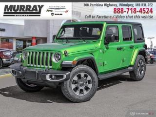 New 2019 Jeep Wrangler Unlimited Sahara 4x4 *NAV/Remote Start/Rear Park Assist* for sale in Winnipeg, MB