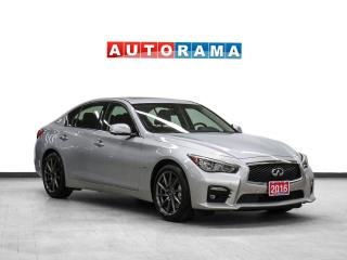 Used 2016 Infiniti Q50 S AWD NAVIGATION LEATHER SUNROOF BACKUP CAM for sale in Toronto, ON