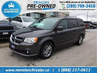 Used 2015 Dodge Grand Caravan SXT Premium Plus, Navi, DVD, Leather, Clean Carfax for sale in Whitby, ON