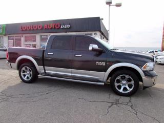Used 2016 RAM 1500 Laramie Crew Cab 4WD Eco Diesel Navi Camera Certified for sale in Milton, ON
