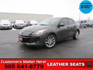 Used 2012 Mazda MAZDA3 GT  MANUAL LEATH ROOF P/SEAT HS BOSE for sale in St. Catharines, ON