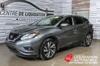 Used 2015 Nissan Murano PLATINUM+AWD+GPS+CUIR+TOIT OUVRANT for sale in Laval, QC