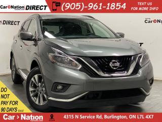 Used 2018 Nissan Murano SV| AWD| NAVI| PANO ROOF| HEATED STEERING WHEEL| for sale in Burlington, ON