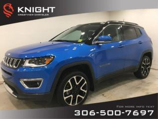 New 2020 Jeep Compass Limited 4x4 | Sunroof | Navigation for sale in Regina, SK