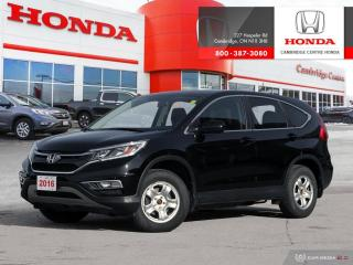 Used 2016 Honda CR-V EX CRUISE CONTROL | LANEWATCH BLIND SPOT CAMERA | HEATED FRONT SEATS for sale in Cambridge, ON