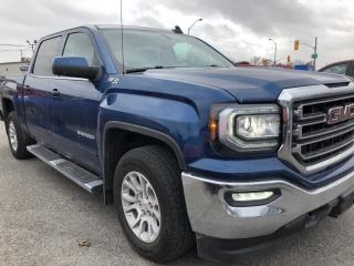 Used 2018 GMC Sierra 1500 SLE Crew Cab 5.3L with Heated Seats, BackupCam, AutoStart, Bluetooth, Buckets, Alloys and Fog Lights! for sale in Kemptville, ON