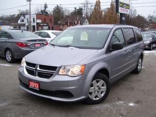 Used 2013 Dodge Grand Caravan SE,ONE OWNER,LOW KM'S,CERTIFIED,NONE SMOKER,TINTED for sale in Kitchener, ON