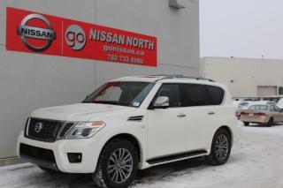 New 2020 Nissan Armada Platinum/RESERVE PKG/4WD/LEATHER/SUNROOF for sale in Edmonton, AB