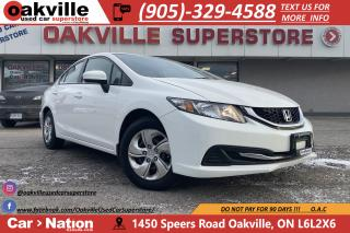 Used 2014 Honda Civic Sedan LX |  HTD SEATS | BLUETOOTH | CRUISE for sale in Oakville, ON