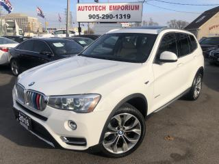 Used 2016 BMW X3 XDrive28i Tech Prem Lighting Pkgs Navi/Pano Roof/Camera for sale in Mississauga, ON