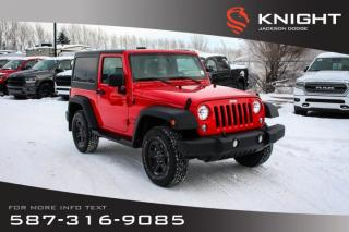 Used 2018 Jeep Wrangler JK Sport - Rear View Camera, Touchscreen for sale in Medicine Hat, AB