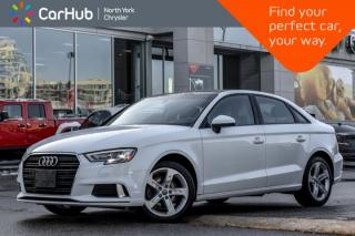 Used 2018 Audi A3 Sedan Komfort Sunroof|Bluetooth|SiriusXM|HeatedFrntSeats|PoweredSeats for sale in Thornhill, ON