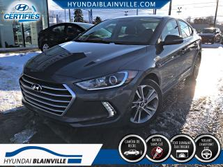 Used 2017 Hyundai Elantra GLS APPLE CARPLAY, VOLANT CHAUF, CAMÉRA for sale in Blainville, QC