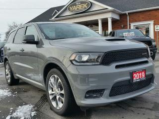 Used 2019 Dodge Durango R/T AWD, Leather Heated Seats/Wheel, NAV, Back Up Cam/Sensors, 7 Passenger for sale in Paris, ON