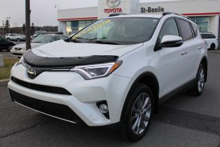 Used 2017 Toyota RAV4 LIMITED CUIR SIEGES CHAUFFANTS CAMÉRA DE RECU for sale in St-Basile-le-Grand, QC