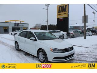 Used 2015 Volkswagen Jetta 2.0L TRENLINE CAMÉRA  SIÈGES CHAUFFANTS for sale in Salaberry-de-Valleyfield, QC