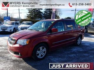 Used 2014 Dodge Grand Caravan Crew   HEATED LEATHER NAVIGATION POWER DOORS AND TRUNK REAR CAMERA HEATED STEERING WHEEL for sale in Kemptville, ON