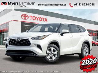 New 2020 Toyota Highlander LE  - $273 B/W for sale in Ottawa, ON