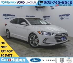 Used 2017 Hyundai Elantra GLS | HTD SEATS + WHEEL | PUSH START | SUNROOF | for sale in Brantford, ON