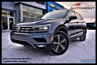 Used 2018 Volkswagen Tiguan 2.0L + TSI + 4MOTION + TOIT PANO + CUIR + NAV for sale in Mont-Laurier, QC